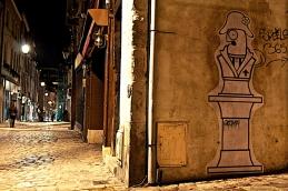La nuit dans les rues D'Orléans.