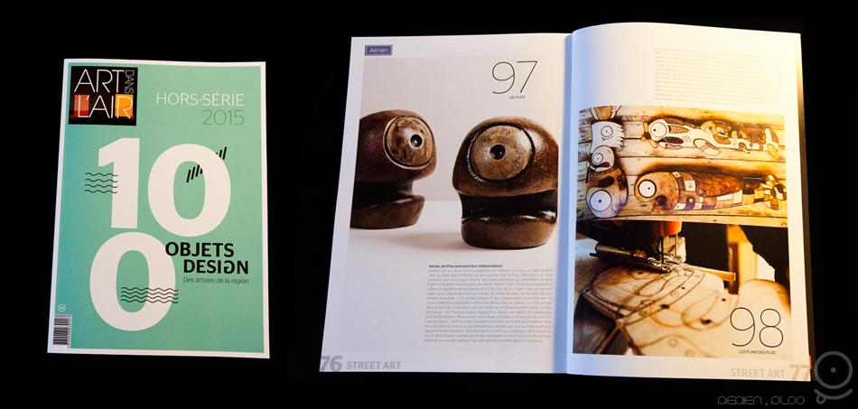 Art dans l'Air article magasine presse art PLOO by Aérien