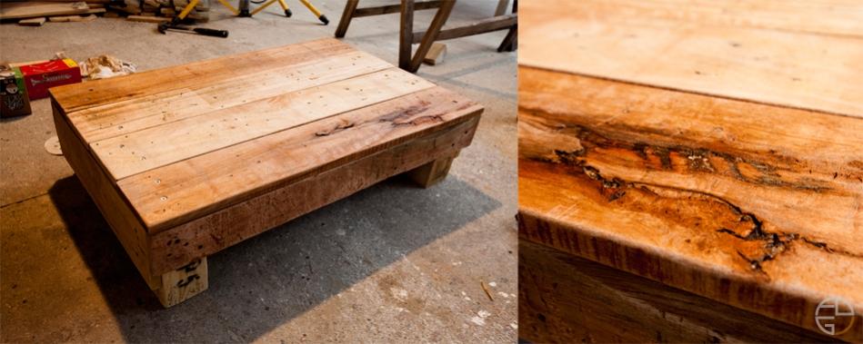 Meuble table basse t l bois palette removal menuiserie - Table basse tele ...